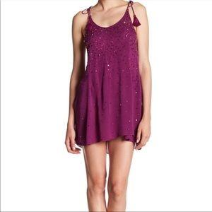 Free People JUST WATCH ME Slip Sequin Mini Dress